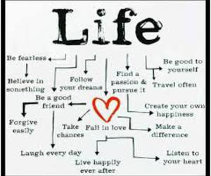life, quotes, and heart image