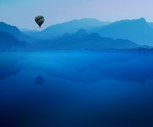 air balloon, serene, and blue image