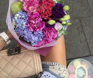 flowers, chanel, and luxury image