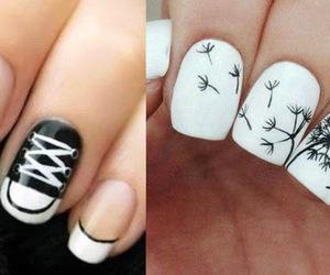 nails black&white image