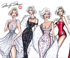 fashion, Marilyn Monroe, and illustration image