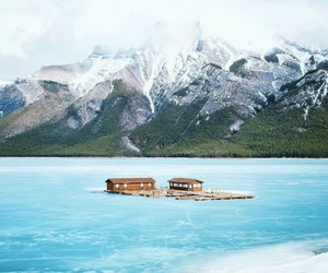 beauty, lakes, and mountain image
