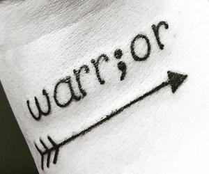 tattoo, warrior, and arrow image