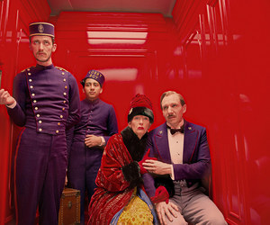 the grand budapest hotel, ralph fiennes, and Tilda Swinton image