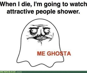 funny, shower, and ghost image