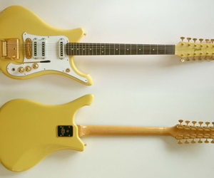 yellow, guitar, and aesthetic image