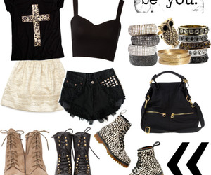 boots, Polyvore, and clothes image