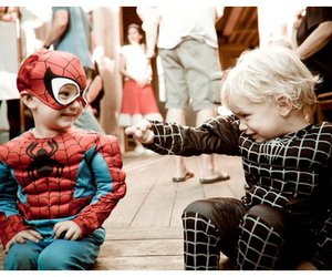 kids and spider man image