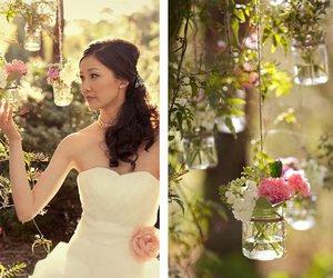 dress, jars, and wedding image