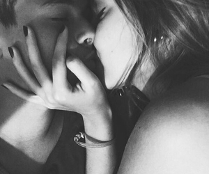 blackandwhite, couple, and couples image
