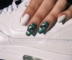 nails, nike, and white image