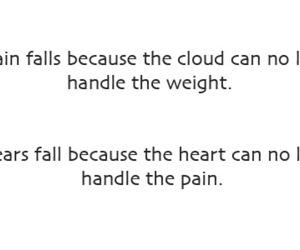 pain, quote, and rain image