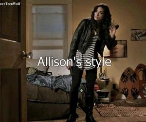 allison, teen wolf, and stiles image