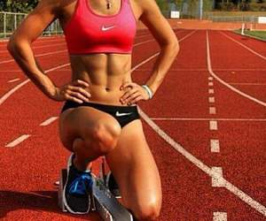 abs, nike, and running image