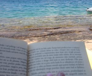 beach, beautiful, and reading image