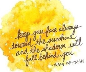 quotes, sunshine, and walt whitman image
