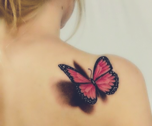 butterfly, girl, and fashion image