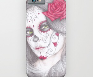 day of the dead, iphone, and skull image