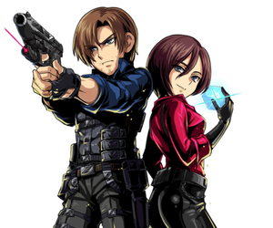 resident evil, ada wong, and leon kennedy image