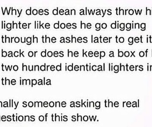 ashes, dean winchester, and impala image