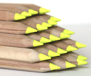 pencil, yellow, and neon image