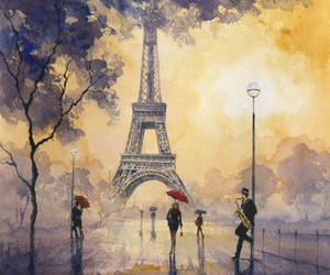 paris and painting image