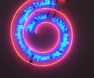 art, neon, and pink image