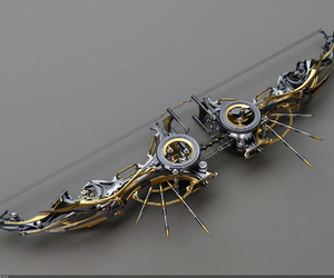 bow, weapon, and steampunk image