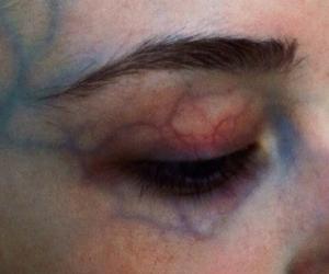 eye, grunge, and veins image