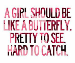 girl, butterfly, and quotes image