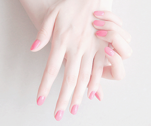 pink, nails, and hands image