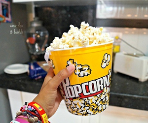 popcorn, food, and yum image