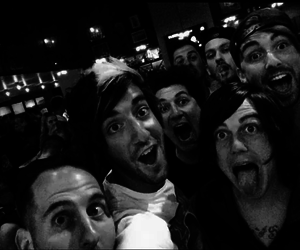 alex gaskarth, all time low, and pierce the veil image