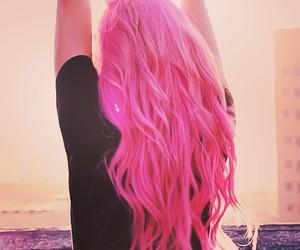 hair, long hair, and pink hair image
