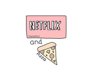 pizza, netflix, and food image