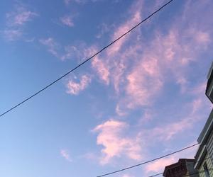 blue, sky, and pink sky image