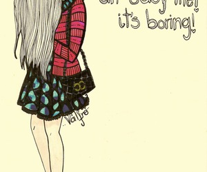 girl, boring, and life image