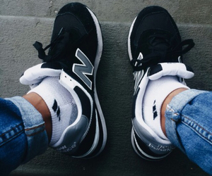 new balance, outfit, and shoes image