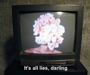 lies, grunge, and flowers image