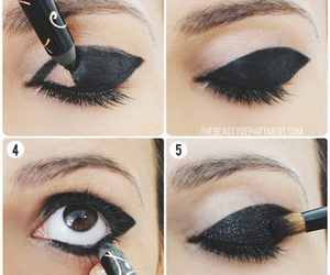 makeup, black, and eyes image