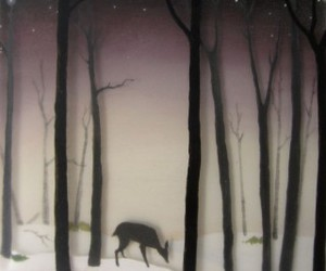 deer, forest, and Resin image