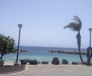 beach, lanzarote, and sea image