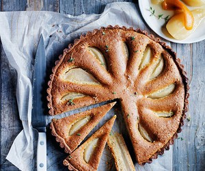 crust, pear, and thyme image