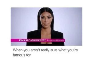 famous, funny, and kim kardashian image
