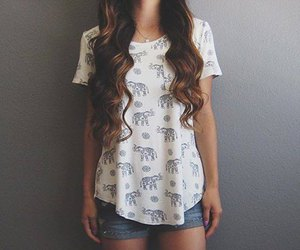 outfit, hair, and fashion image