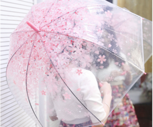 floral, japan, and umbrella image
