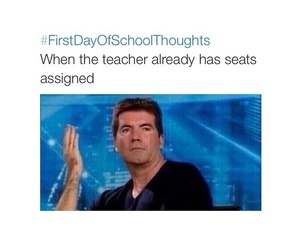 funny, lol, and firstdayofschoolthoughts image