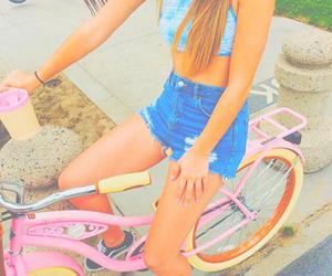 summer, tumblr, and bike image