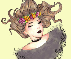 Dream, girl, and flowers image