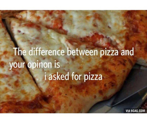 pizza, opinion, and true image